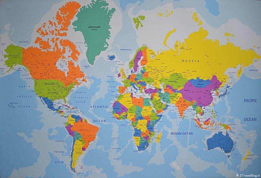 Mijn canvas wereldkaart van wereldkaarten.nl