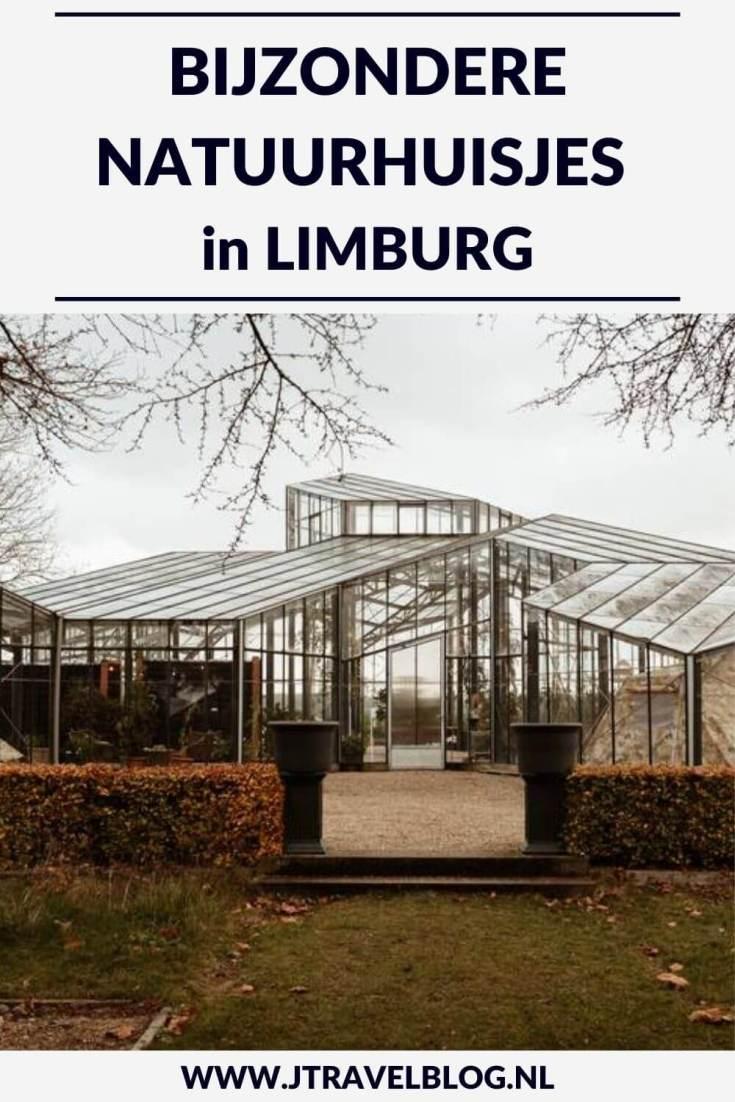 Ik heb een aantal bijzondere natuurhuisjes in de provincie Limburg voor je op een rijtje gezet. Het zijn stuk voor stuk unieke accommodaties, veelal gelegen in de natuur. #natuurhuisjes #limburg #accommodatie #jtravel #jtravelblog