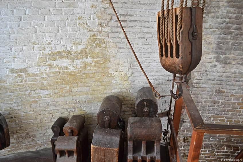 De luizolder in Molenmuseum De Valk in Leiden