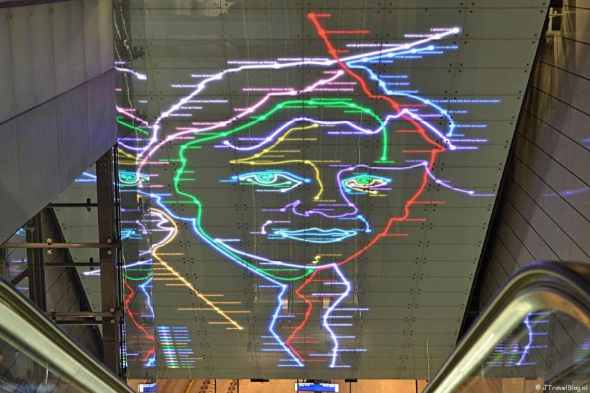 Kunst in de Amsterdamse metro : Station Vijzelgracht in Amsterdam