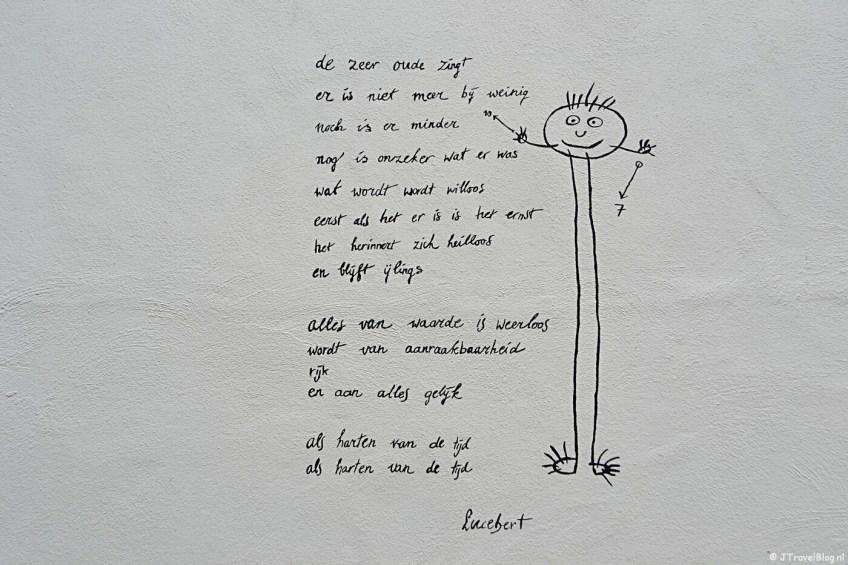 Muurgedicht van Lucebert (dit is volgens mij een nieuw muurgedicht)