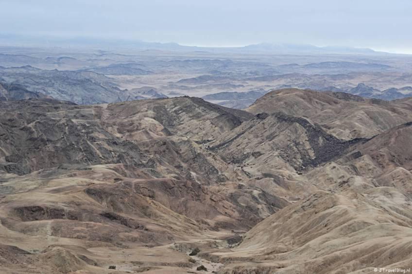 Bijzonder natuurfenomeen in Namibië: Maanlandschap