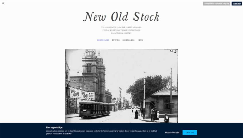 New Old Stock: een website met gratis afbeeldingen