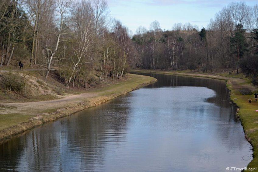 Het Noordoosterkanaal tijdens de bunkerroute in de Amsterdamse Waterleidingduinen
