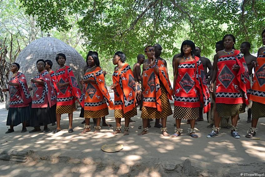 Zang- en dansgroep in Swaziland