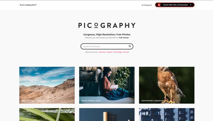 Picography: een website met gratis afbeeldingen