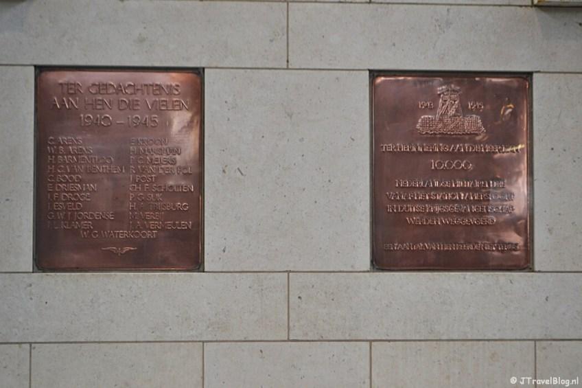 Plaquette op Station Amersfoort tijdens de 9e etappe van het Westerborkpad