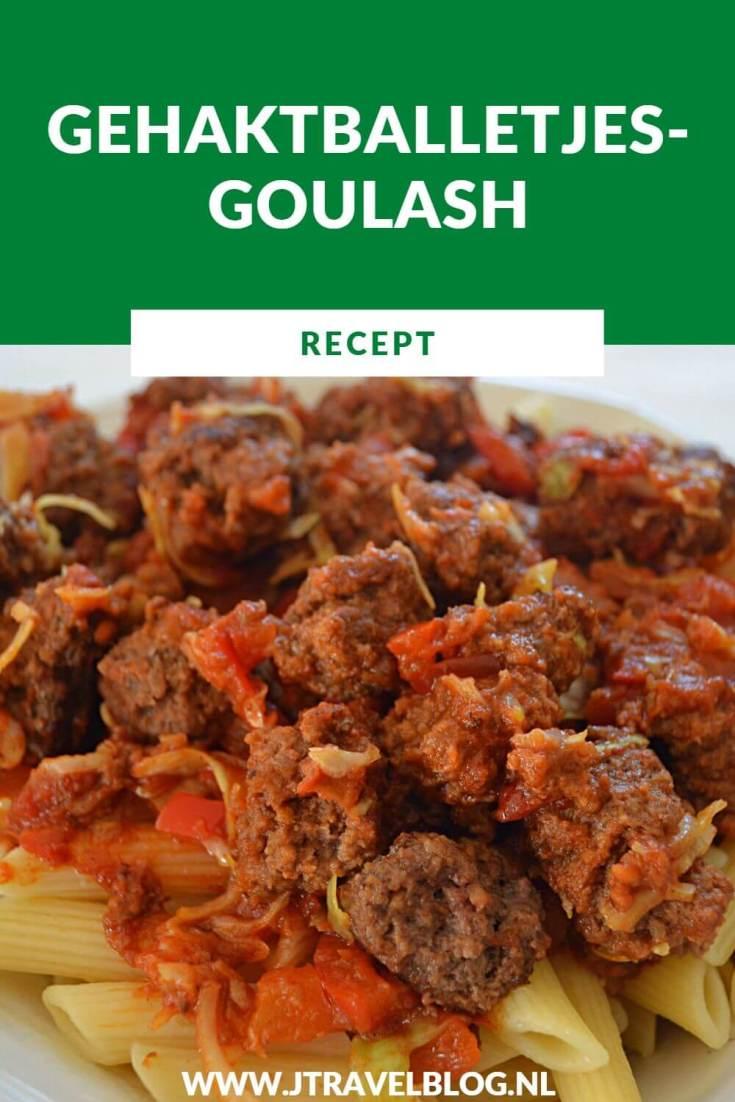 Ik heb een heerlijk recept voor je gemaakt: Gehaktballetjesgoulash met penne. Makkelijk en snel te maken. Eet smakelijk. Hier lees je hoe je dit recept zelf kunt maken. #recept #gehaktballetjesgoulash #penne #goulash #pasta #jtravel #jtravelblo