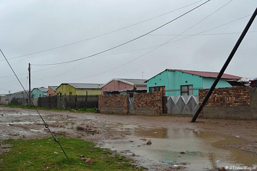 Regen in een township bij Port Elisabeth/Zuid-Afrika