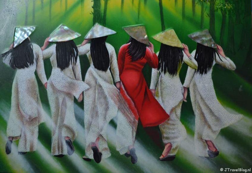 Een schilderij in Vietnam