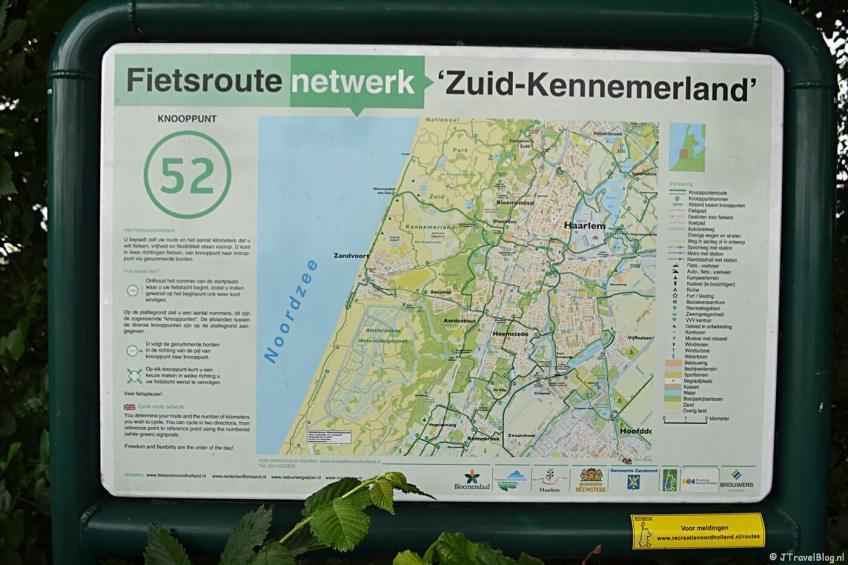 Knooppunt 52 tijdens mijn fietstocht langs fietsknooppunten rond Hoofddorp