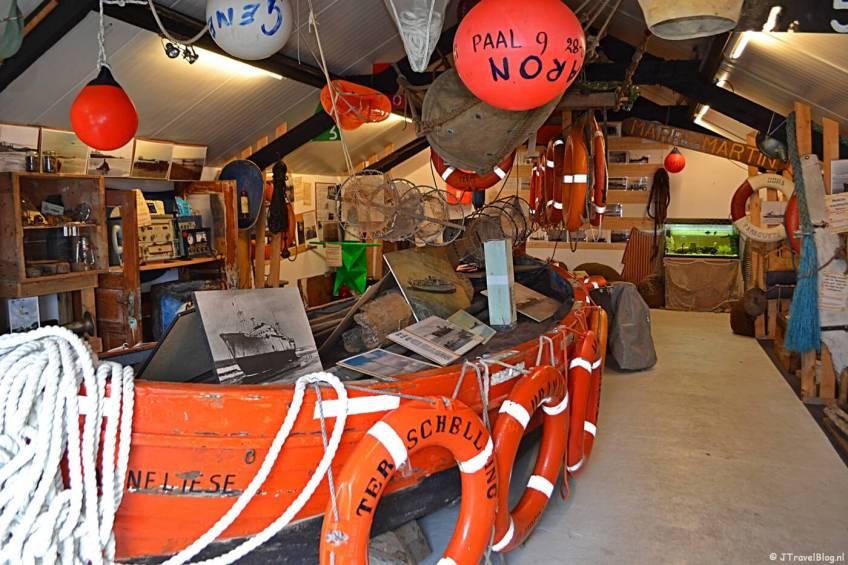 Expositieruimte 2 van het Schipbreuk- en Juttersmuseum Flora in De Koog