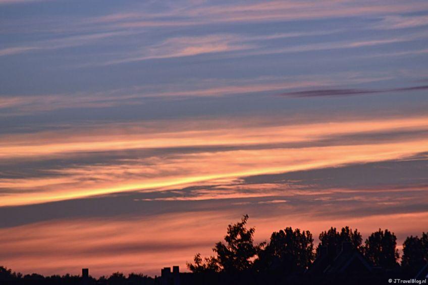Zonsondergang bij mij thuis in juni 2013