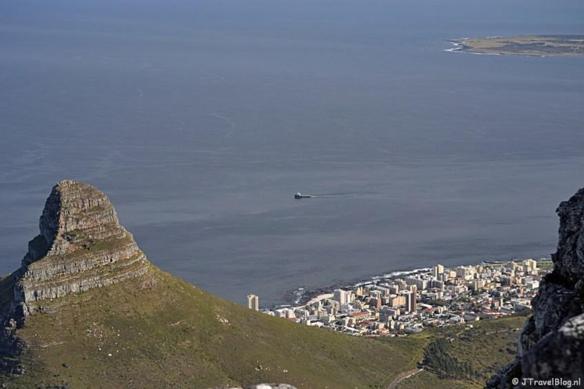 Kaapstad, Lions Head en Robbeneiland vanaf de Tafelberg