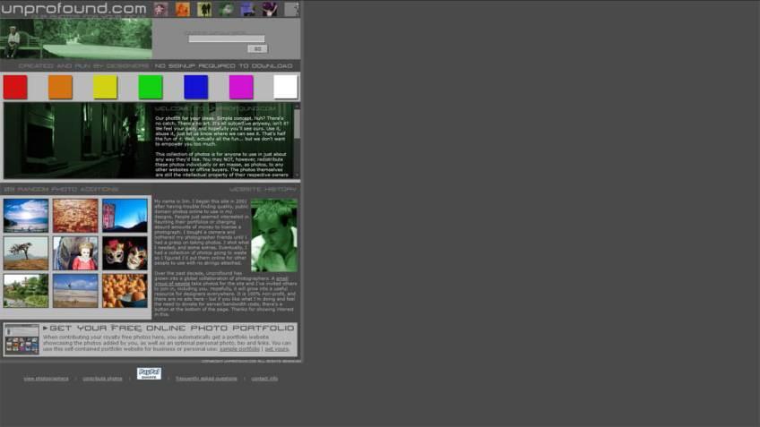 Unprofound: een website met gratis afbeeldingen