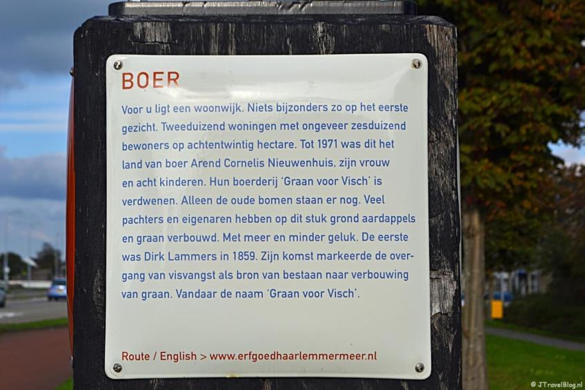 Verhalenpaal nr. 3 - BOER / Graan voor Visch