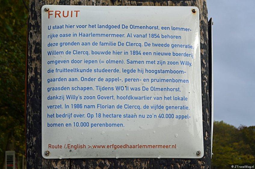 Verhalenpaal nr. 15 - FRUIT / Olmenhorst