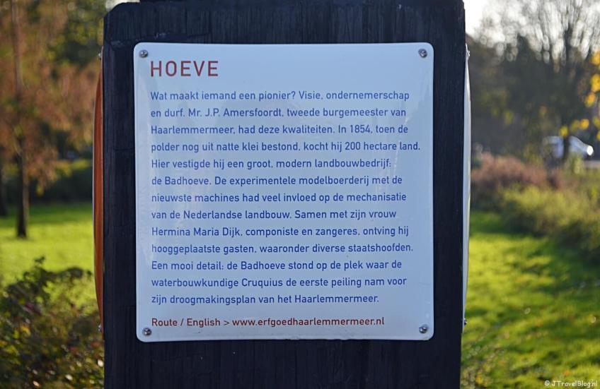 Verhalenpaal nr. 10 - HOEVE / Badhoeve