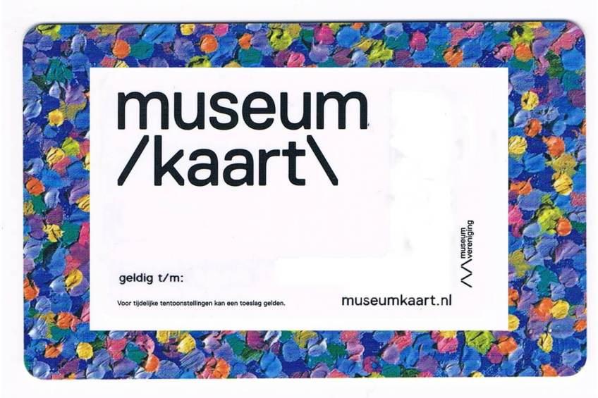 Mijn museumkaart (in het kader van privacy en misbruik zijn bepaalde gegevens verwijderd)