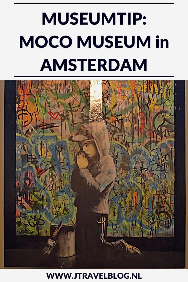 Aan het Museumplein in Amstedam staat het Moco Museum met werken van o.a. de streetartkunstenaar Banksy. Meer over dit leuke museum in Amsterdam lees je hier. Lees je mee? #mocomuseum #amsterdam #banksy #jtravel #jtravelblog