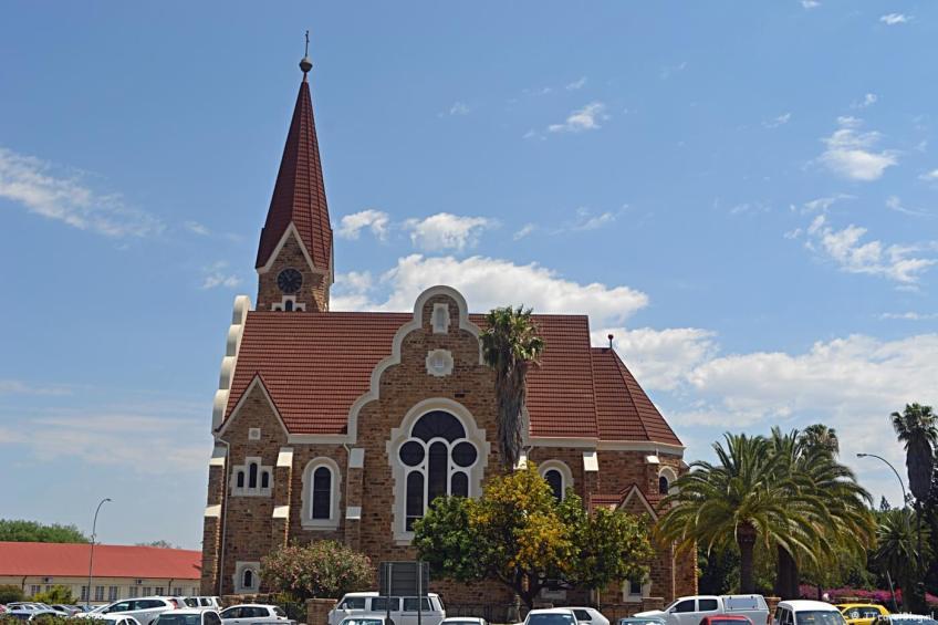 De Christuskirche in Windhoek op dag 21 van mijn 22-daagse rondreis door Zuid-Afrika en Namibië