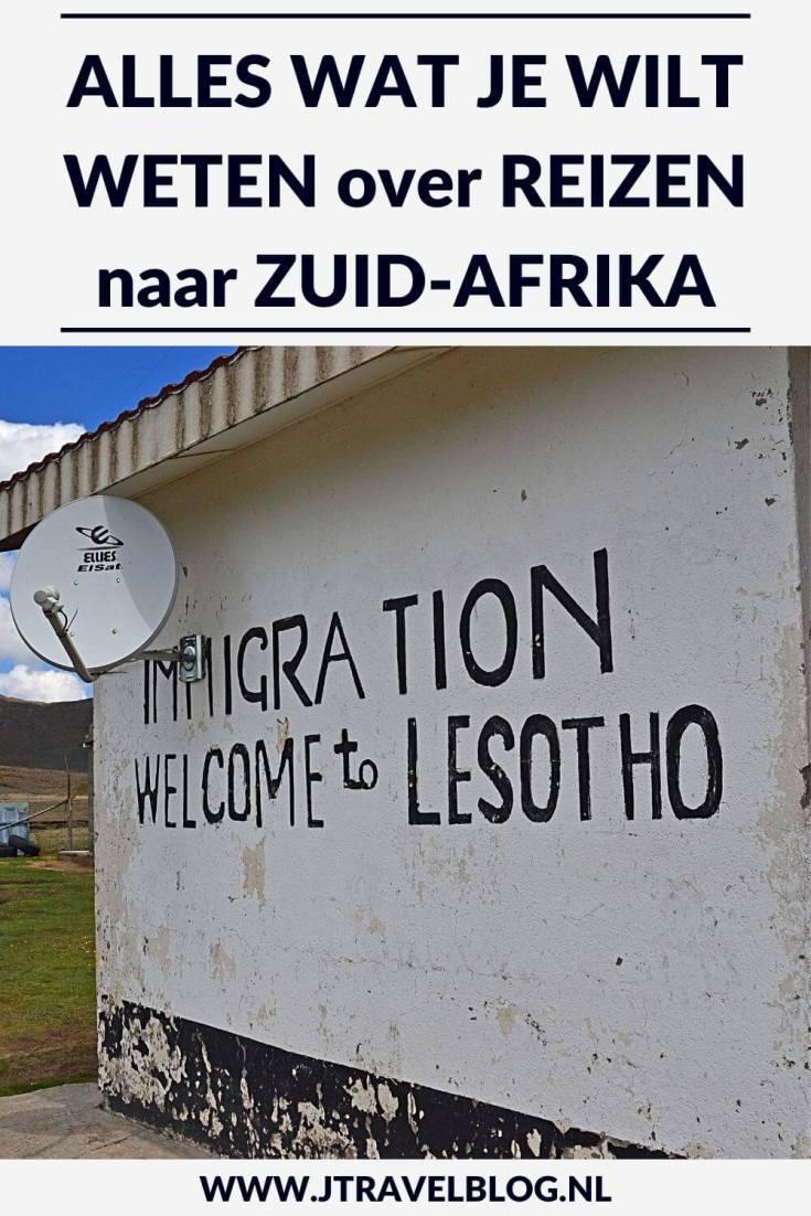 Ik heb in dit artikel alles wat je wilt weten over reizen naar Zuid-Afrika op een rijtje gezet. Ik probeer in dit artikel antwoord te geven op veel gestelde vragen als grensdocumenten, beste reistijd, geldzaken, verkeer, veiligheid en andere zaken. #zuidafrika #southafrica #alleswatjewiltwetenoverzuidafrika #jtravel #jtravelblog