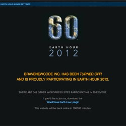 Earth Hour No Power 2012