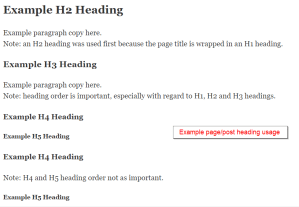 SEO Best Practices Heading Editor