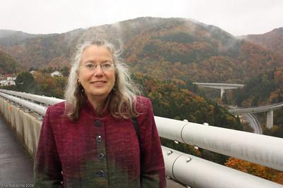 Shivering on the bridge near Miinohara