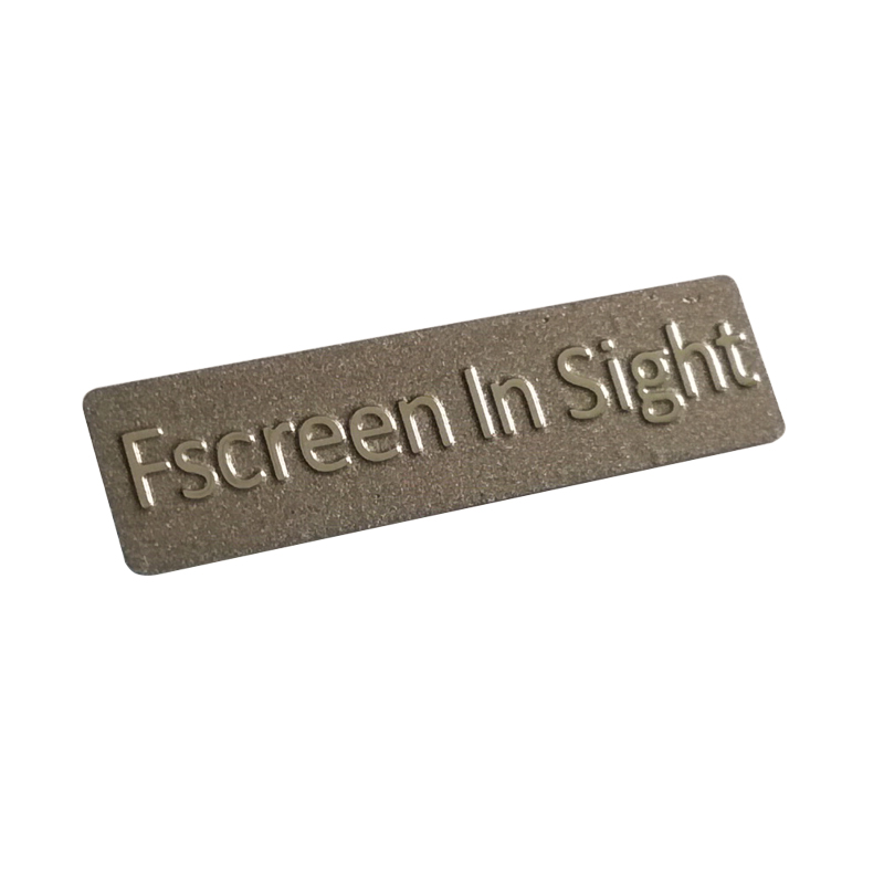 Etching metal nameplate SUS304 stainless steel name plate metal logo stickers with self-adhesive for diving gear