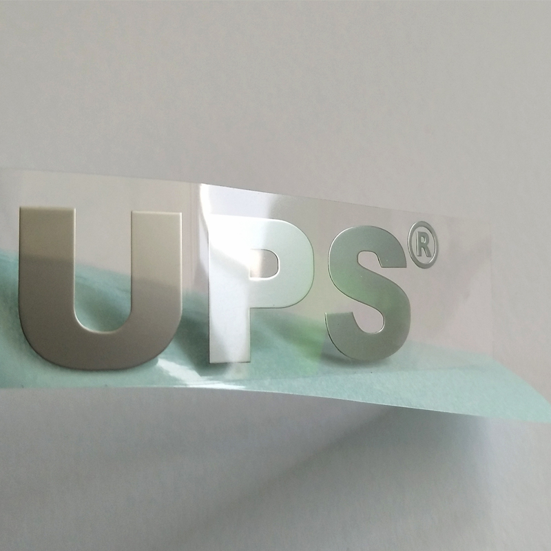 Made in china good quality electroplating nickel label nickel metal sticker adhesive waterproof with different effects
