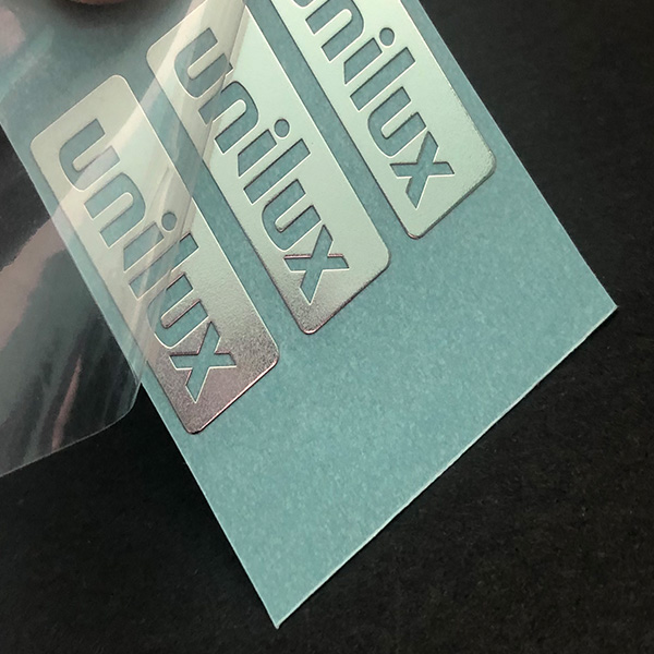 Manufacture Custom Metal Nickel Sticker Electroforming Metal Shining Nickel 3M Stickers for Machine