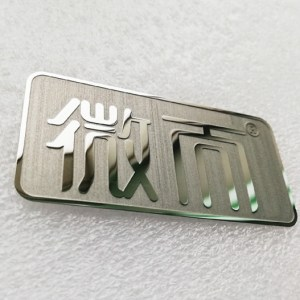 Best selling product metal stickers famous stainless steel logo plate finish metal badge with fashion design brand sticker for machine