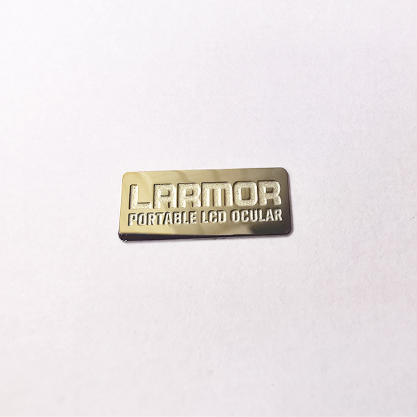 Custom engraved stainless steel stickers logo label tags stainless steel nameplates self adhesive metal logo plates for office wall door desk
