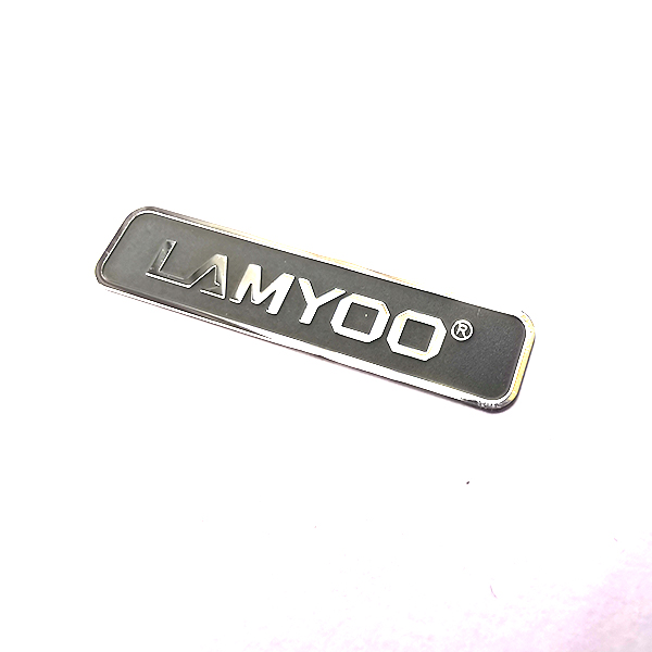 Custom made permanent high light etching stainless steel metal stickers for phone equipment electronic products machinery