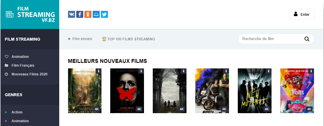 Le Site De Streaming Filmstreamingvf