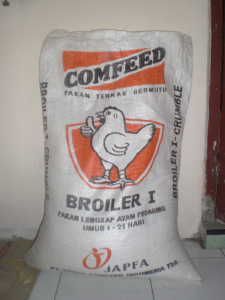 Pakan Ayam Broiler I, makanan lengkap ayam pedaging umur 1 sampai 24 hari