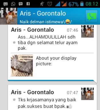 Testimonial Bapak Aris Gorontalo