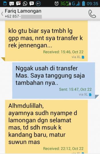 Testimonial Bapak Fariq Lamongan