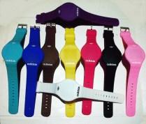 jam tangan Led model terbaru - tipis - material silikon - sensor touchscreen - fashionable
