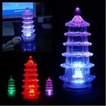 KRISTAL PAGODA LED LAMPU KRISTAL PAGODA LED NYALA 7 COLOUR SDH INCLUDE BATERAI LR44 13cm x 6cm x 6cm ecer : 30.000 grosir 3pcs : 25.000