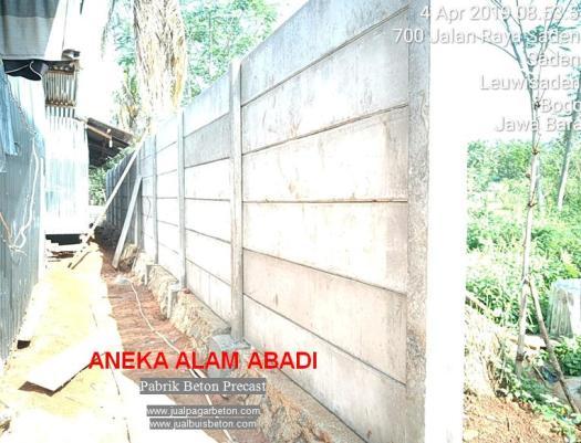 pagar beton lokasi bogor