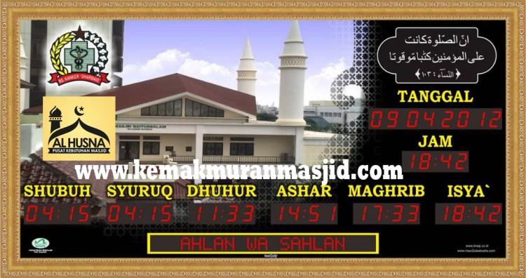 jual jam masjid sholat murah berkualitas