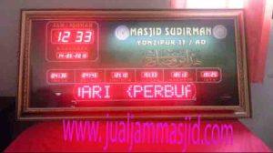 jual jam jadwal sholat digital masjid murah di cibitung utara