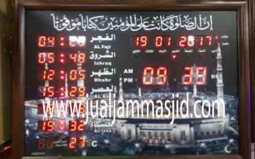 jual jam jadwal sholat digital masjid murah di cibubur pusat