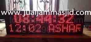 jual jam jadwal sholat digital masjid murah di cikampek timur