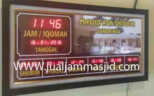 jual jam jadwal sholat digital masjid murah di rawamangun