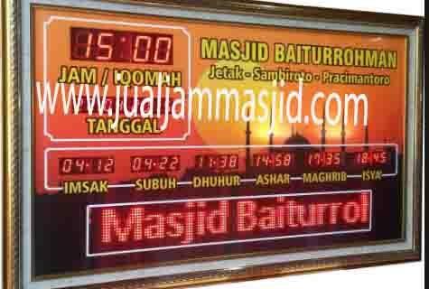 jual jam digital masjid murah di jakarta timur terbaik
