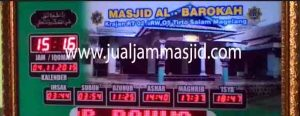 jual jam jadwal sholat digital masjid murah di depok pusat