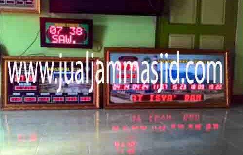 jual jam jadwal sholat digital masjid murah di depok timur